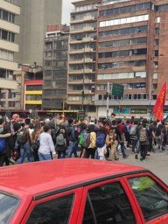 Varios puntos de Bogotá están bloqueados por manifestaciones de la Universidad Distrital