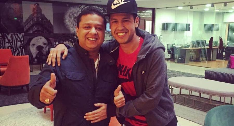 Rafael Santos y Martín Elías, cantante.