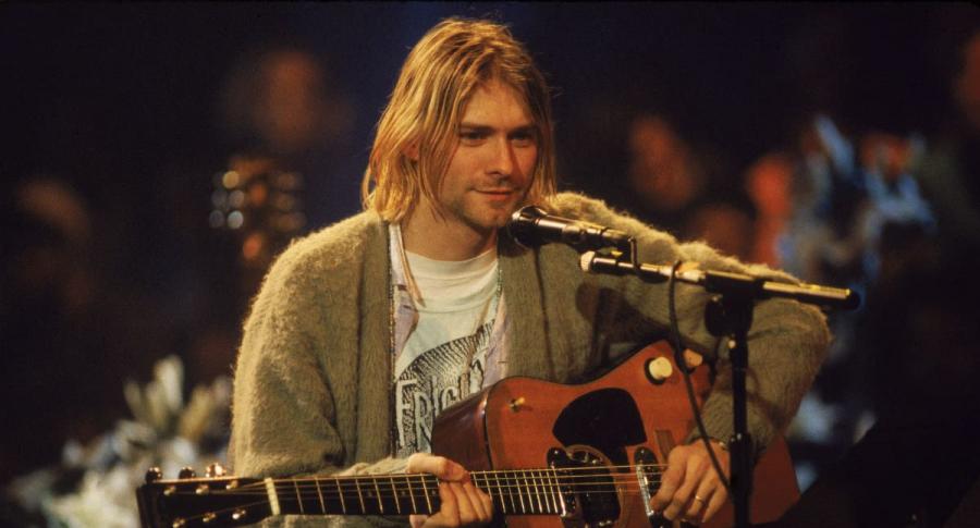 Kurt Cobain durante el 'MTV Unplugged' de Nirvana.