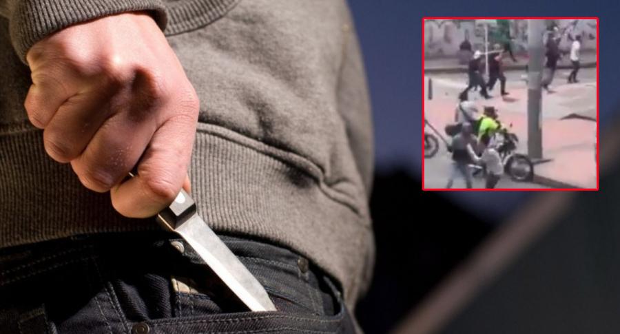 Ladrón con cuchillo.
