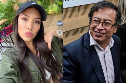 Luisa Fernanda W, 'youtuber'; y Gustavo Petro, senador y exalcalde de Bogotá.