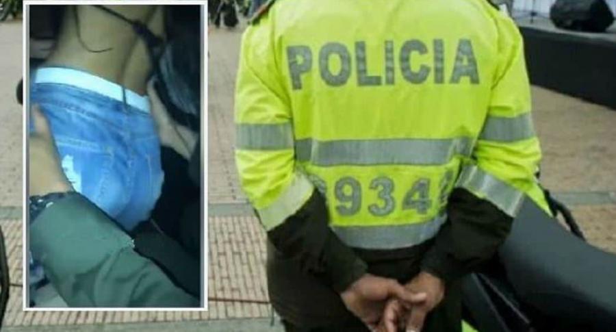 Policías hacen rumba con mujeres