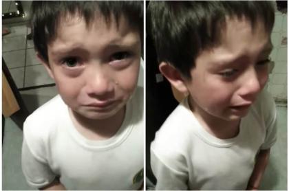 Niño llorando.