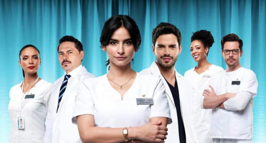 Viña Machado, Lucho Velasco, Diana Hoyos, Sebastián Carvajal, Nina Caicedo y Julián Trujillo., de 'Enfermeras'