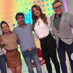 Violeta Bergonzi, 'Mafe' Romero, Dominica Duque y Jairo Martínez, presentadores, con Chris Carpentier, jurado de 'Masterchef'.