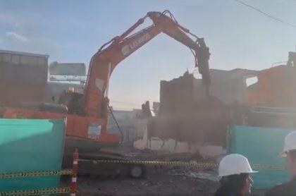 Demolición para el Metro