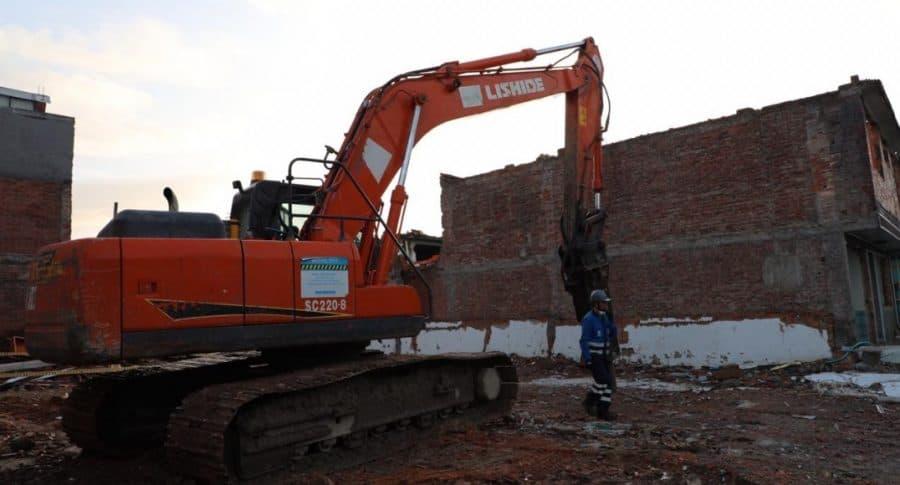 Demoliciones para el Metro