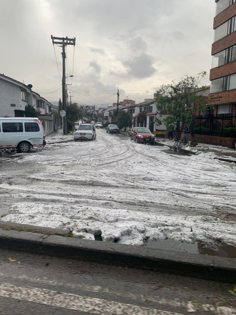 Granizo en Bogotá