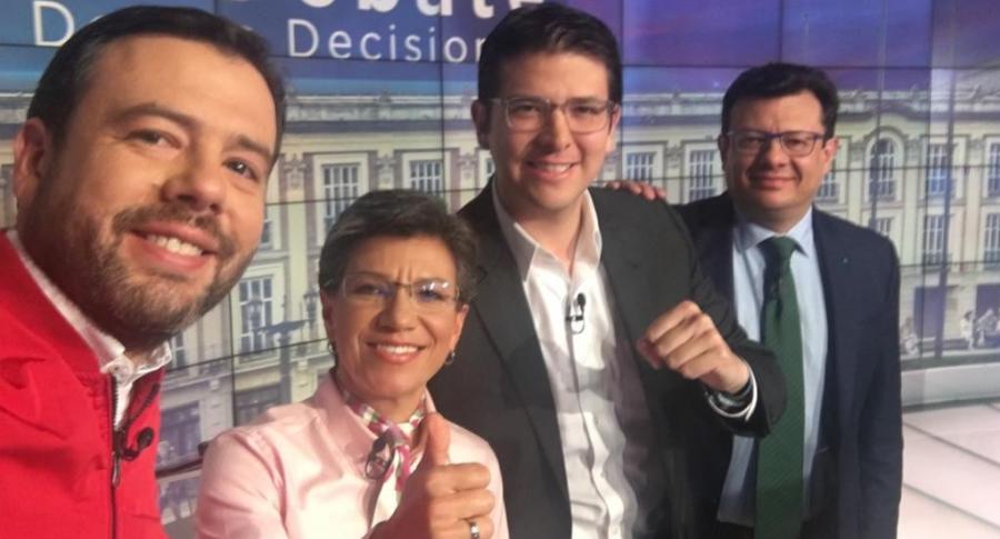 Candidatos en debate en Canal RCN