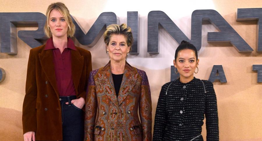 Mackenzie Davis, Linda Hamilton y Natalia Reyes