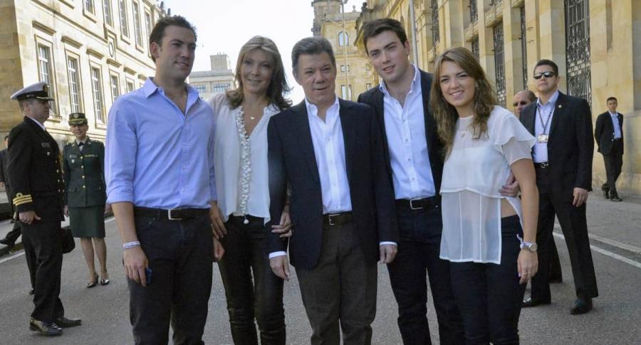 Juan Manuel Santos y su familia