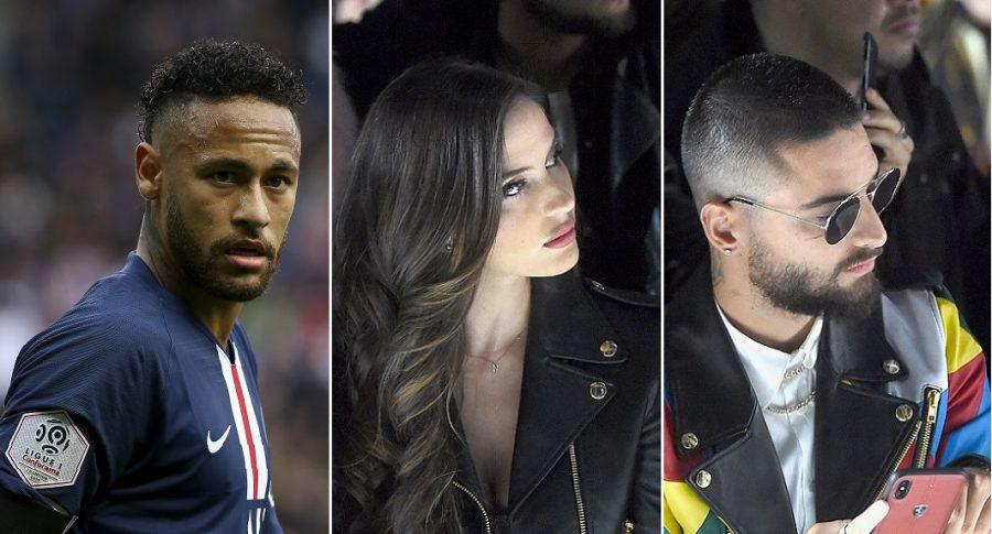 Neymar, futbolista; Natalia Barulich, modelo; y Maluma, cantante.