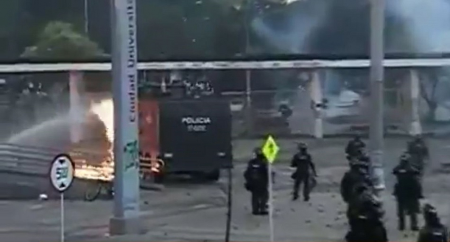 Disturbios en la U. Nacional