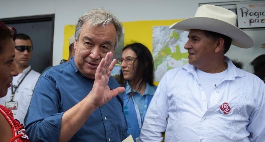 Antonio Guterres y Alexander Parra