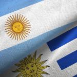 Banderas Argentina y Uruguay