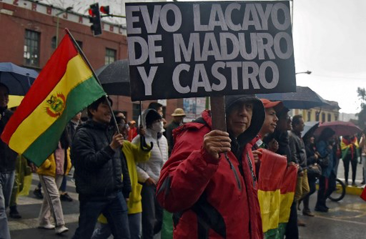 Protestas contra Evo Morales