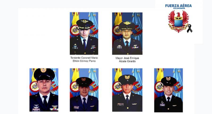 Tripulantes de helicóptero presidencial que murieron