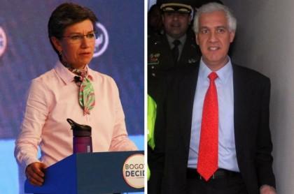 Claudia López y Samuel Moreno
