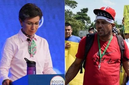 Claudia López y venezolano