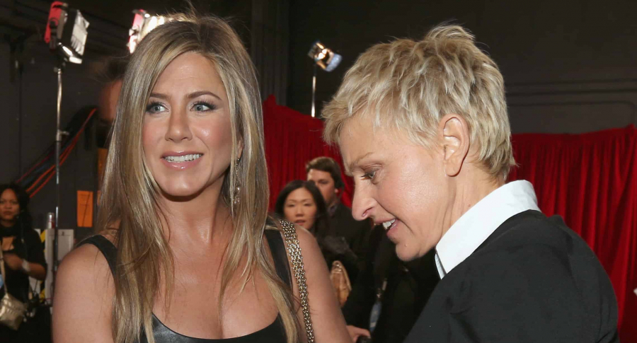 Jennifer Aniston y Ellen DeGeenres