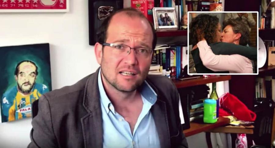 Daniel Samper / Beso de Claudia López.