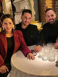Carmen Villalobos, Sebastián Caicedo, Norman Capuozzo y Lina Tejeiro