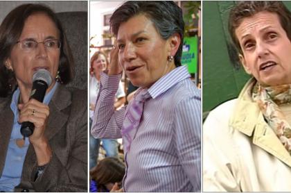 Salud Hernández, Claudia López y Florence Thomas