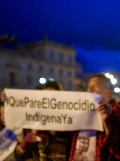 Plantón en rechazo a asesinato de indígenas