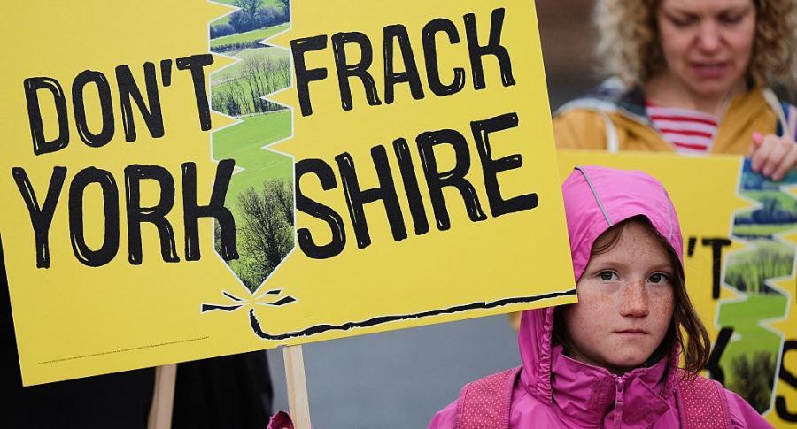 Protesta contra el fracking en Reino Unido
