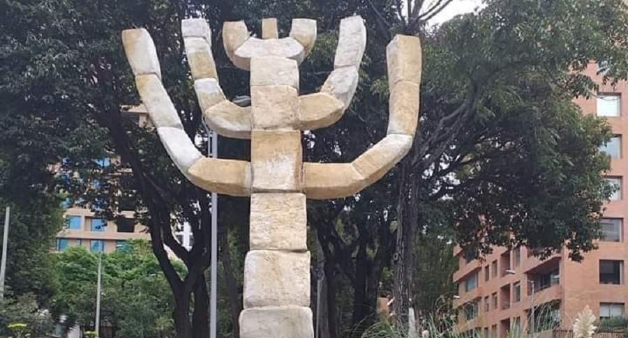 Menorah judía de Bogotá