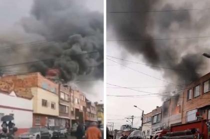 Incendio en bodega de Bogotá