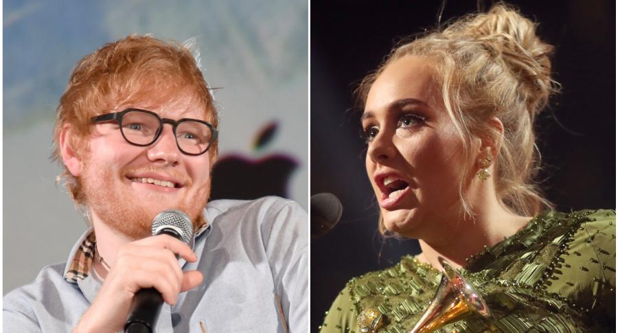 Ed Sheeran y Adele