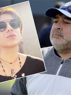 Gianinna Maradona y Diego Maradona
