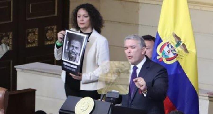 Angélica Lozano e Iván Duque