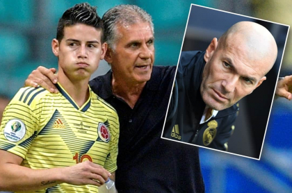 James, Queiroz y Zidane