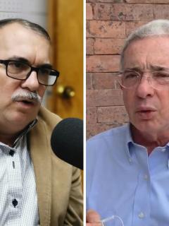 'Timochenko' y Álvaro Uribe