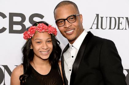 Rapero T.I. y su hija Deyjah Harris