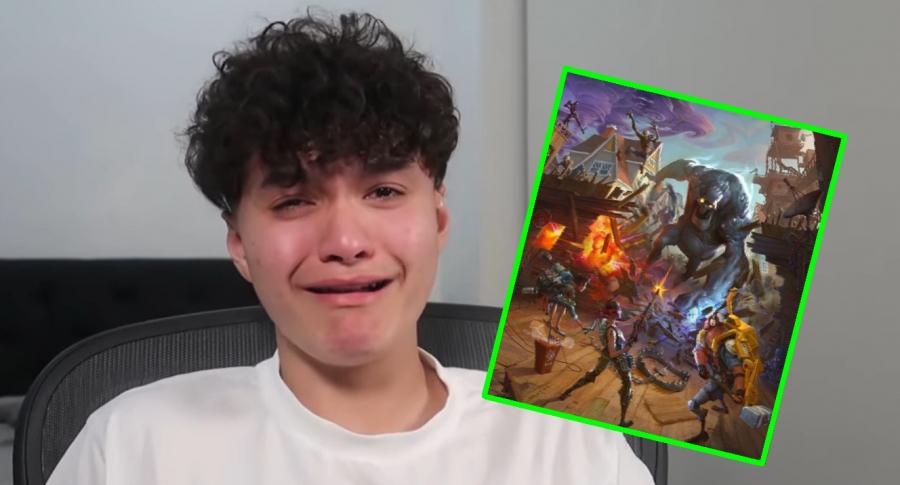Gamer llorando
