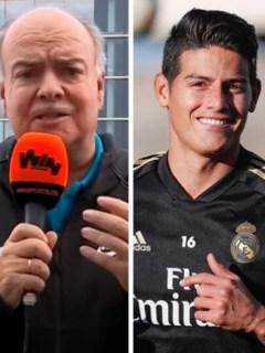 Iván Mejia, James Rodríguez y Zinedine Zidane