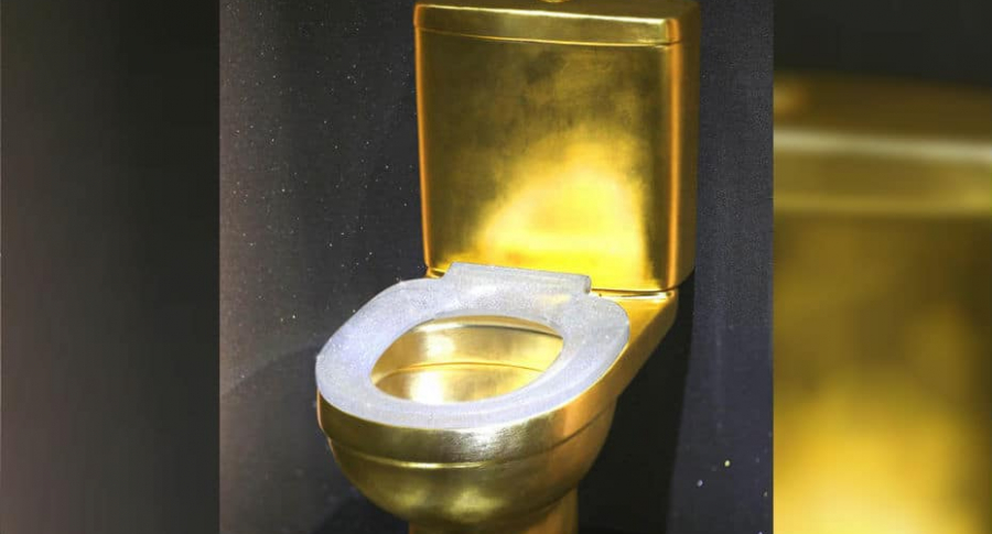 Inodoro de oro.