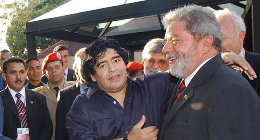 Maradona y Lula