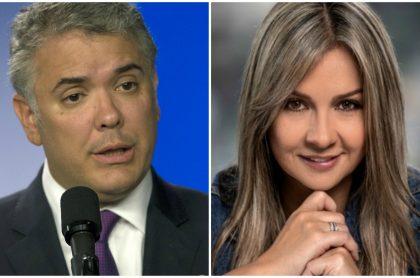 Iván Duque y Vicky Dávila