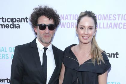 Simon Brand y Claudia Bahamón