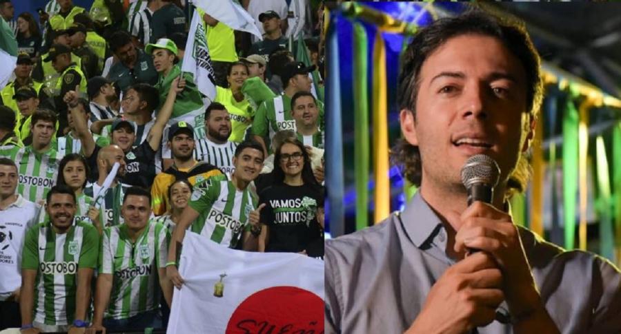 Daniel Quintero e hinchas de Nacional