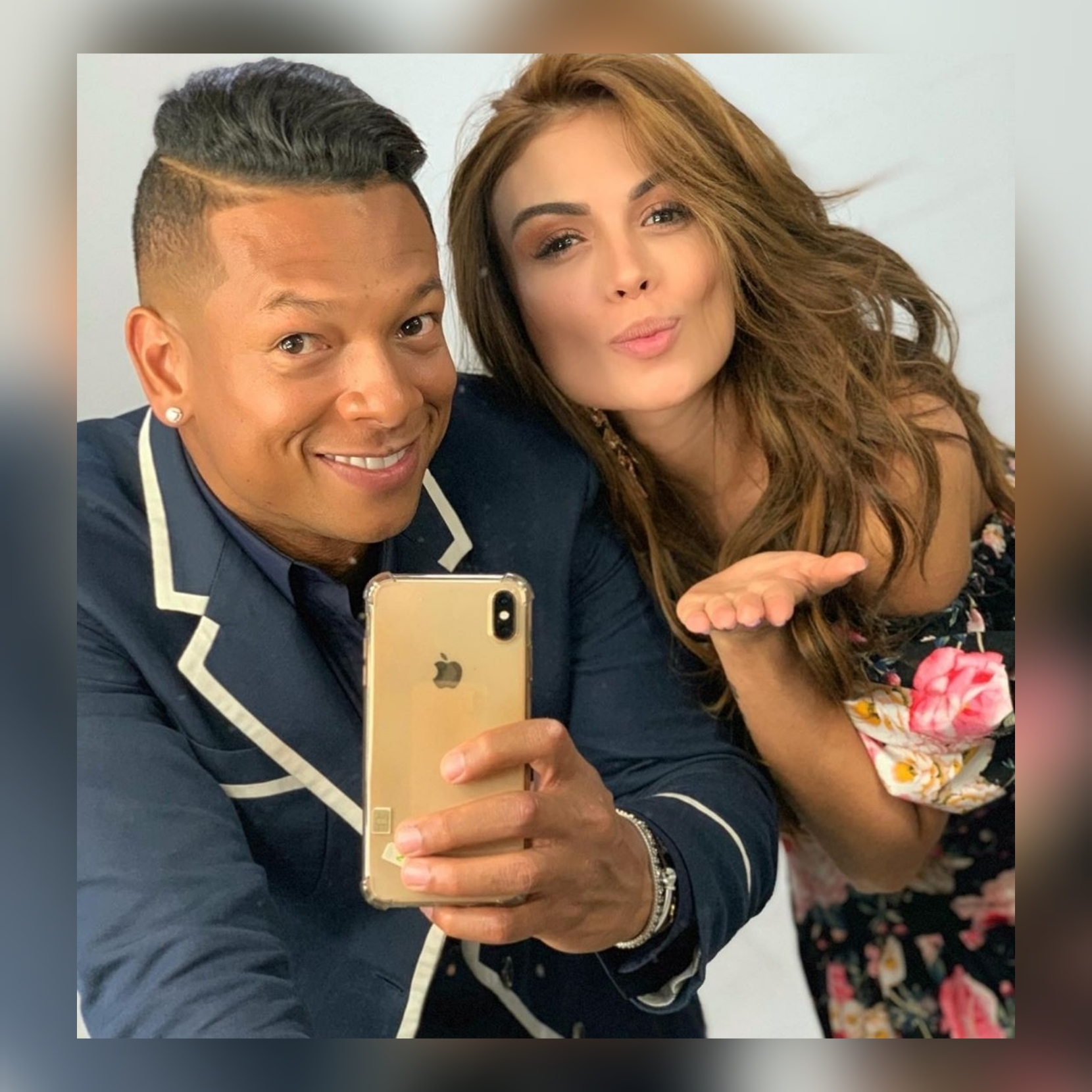 Fredy Guarín y Sara Uribe
