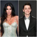 Kim Kardashian y Noah Schnapp