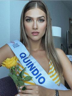 Rubia y sonriente, Señorita Quindío se lleva corona del Concurso Nacional de la Belleza