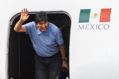 Evo Morales llega a México.