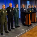 Iván Duque, Carlos Holmes Trujillo y cúpula militar