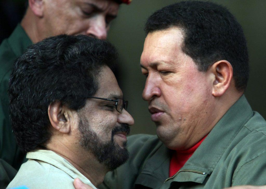 'Iván Márquez' y Hugo Chávez